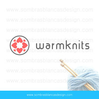 OOAK Premade Logo Design - Heart Circle - Perfect for a knitting accessories shop or a bath and body boutique