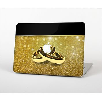 """The Gold Glitter with Intertwined Rings Skin for the Apple MacBook Air 13"""""""