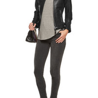 W118 by Walter Baker Gary leather biker jacket – 54% at THE OUTNET.COM