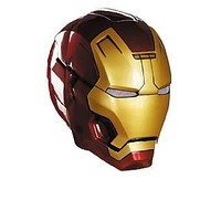 Disguise Marvel Iron Man 3 Mark 42 Adult Helmet Costume Accessory, Gold/Red, One Size Adult