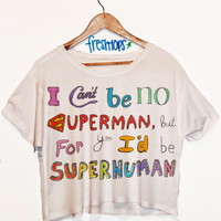 SuperHuman Short Sleeve Crop