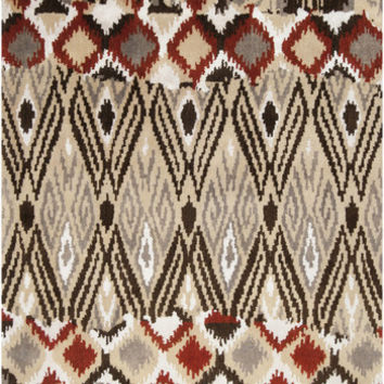 Banshee Collection 100% New Zealand Wool Area Rug in Oyster Grey and Carnelian design by Surya