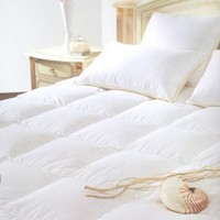 Natural Comfort Classic White Goose Down Feather Comforter, King