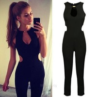 Stylish Women's Sleeveless O-neck Backless Jumpsuit Romper W_C CB037065 = 5617683649