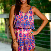 So Good To Me Romper, Blue