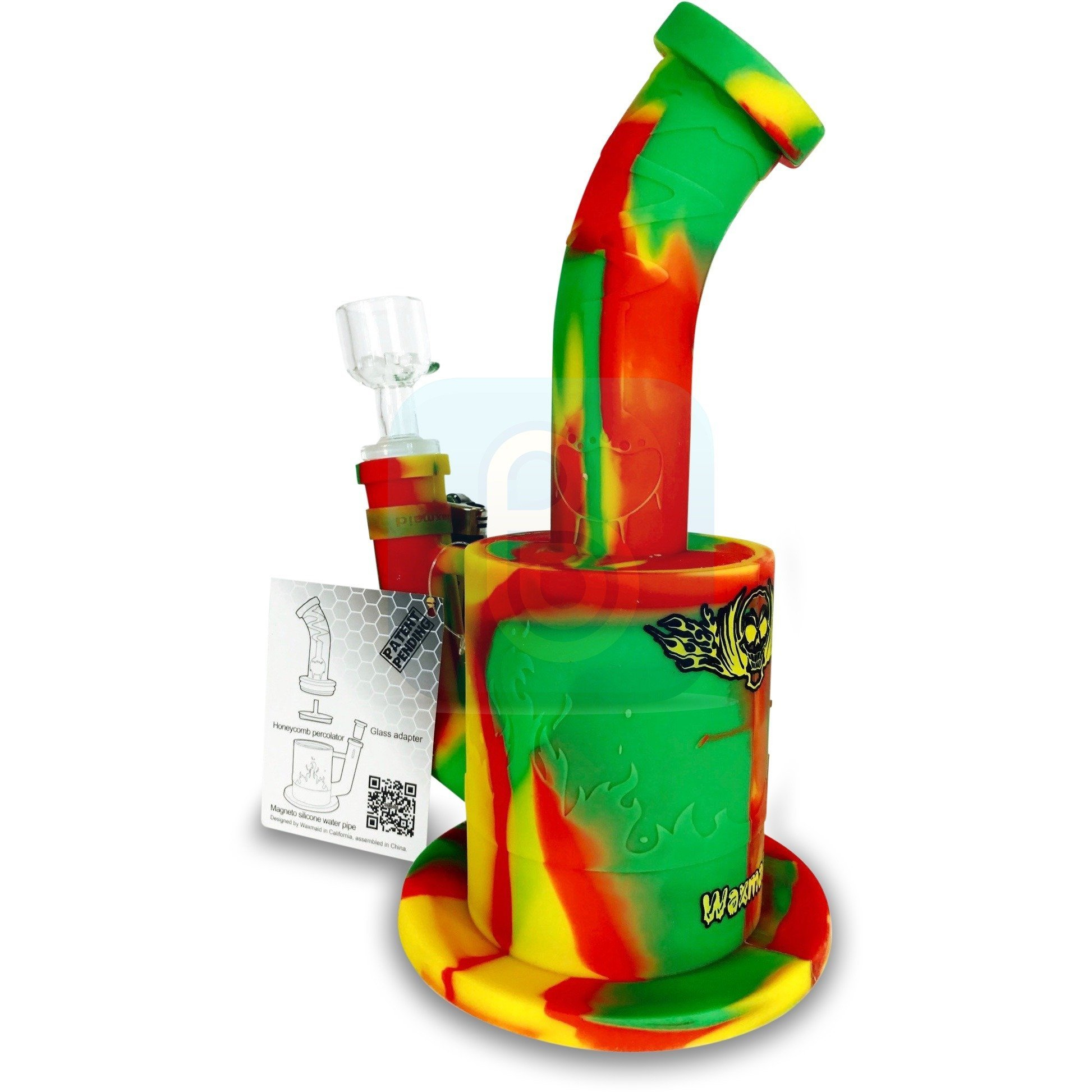 """Image of Waxmaid Silicone Water Pipe - Magneto (9"""")"""
