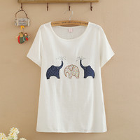 Cute elephant T-shirt patch