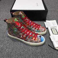 Gucci Men's GG Guccissima Canvas High Top Fashion Casual Sneakers Shoes