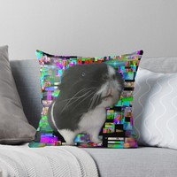 'Cavey Take Over' Throw Pillow by Sarah Davies