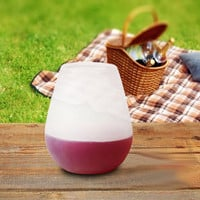 Silicone Wine & Beer Cups Foldable Glasses Unbreakable Collapsible Stemless Whiskey Glass Drinkware for Camping