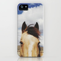 Cloudy Horse Head iPhone Case by Kevin Russ | Society6