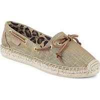 Women's Katama Espadrille in Gold-Tipped Linen by Sperry