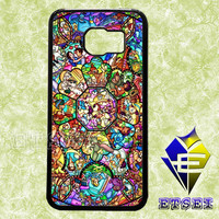 Disney Characters Stained Glass case For Samsung Galaxy S3/S4/S5/S6 Regular/S6 Edge and Samsung Note 3/Note 4 case