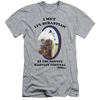 PARKS & REC/LI'L SEBASTIAN - S/S ADULT 30/1 - HEATHER -