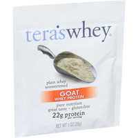 Tera's Whey Protein - Goat - Plain - Unsweetened - 1 Oz - Case Of 12
