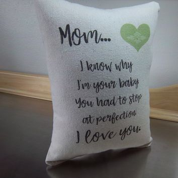 Mom gift pillow from favorite child throw pillow home decor
