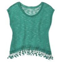 Xhilaration® Junior's Knit Top with Fringe - Assorted Colors