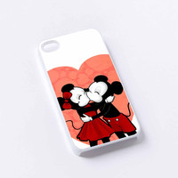 Mickey And Minnie Mouse Love Kissing iPhone 4/4S, 5/5S, 5C,6,6plus,and Samsung s3,s4,s5,s6