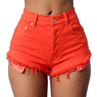 Short Jeans Femme Sexy Women's Shorts With High Waist Lady Short
