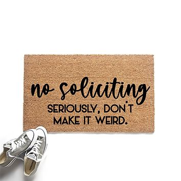 Funny No Soliciting Doormat