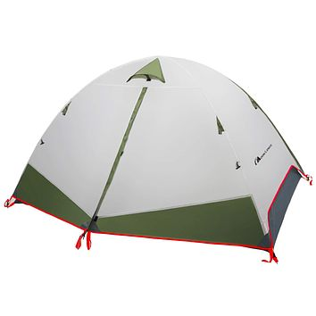 MOON LENCE Camping Tent 1 and 2 Person Backpacking Tent Double Layer Portable Outdoor Lightweight Tent Waterproof Wind Proof Anti-UV for Hiking Fishing Easy Setup Green