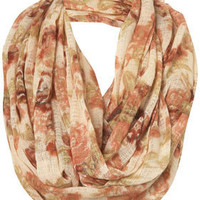 Cream Floral Print Snood - Scarves - Accessories - Topshop USA
