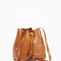 Faux-Leather Drawstring Bucket Bag for Women | Old Navy