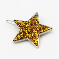 Gold Sequined Star Hair Clip