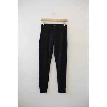 "MOTHER Denim ""The Trainer"" Black Marbled Jegging (23)"