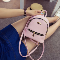 Women's Leather Mini Backpack