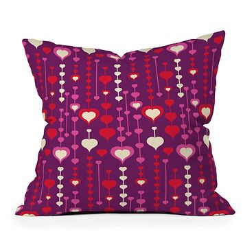 Heather Dutton Falling In Love Throw Pillow