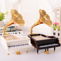Gold Music Couple Living Room Plastic Decoration Box [9568310602]