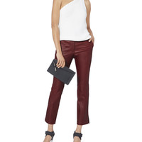 Red Leather Ankle Pants
