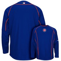Majestic Chicago Cubs On-Field Practice Therma Base Fleece Pullover