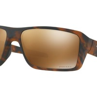 Oakley Double Edge Sunglasses - Polarized - Matte Tortoise w/ Prizm Tungsten