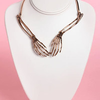 Wildfox Bone to Pick Rose Gold Collar Necklace