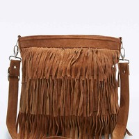 Urban Renewal Vintage Re-Made Suede Fringe Bag in Tan - Urban Outfitters