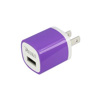 Reiko REIKO 1 AMP WALL USB TRAVEL ADAPTER CHARGER IN PURPLE