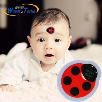 1 PCS Baby Cartoon Forehead LCD Thermometer High-Precision LCD Forehead Thermometer No Mercury Battery Health Body Temperature