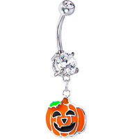Happy Jackolantern Belly Ring | Body Candy Body Jewelry