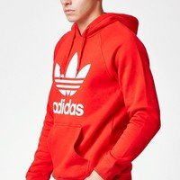 adidas Trefoil Red Pullover Hoodie at PacSun.com