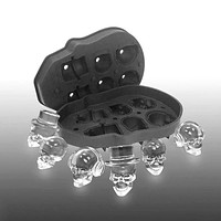 6 Grid 3D Skull Ice Mold Silicone Bones Ice Cube Mold Kitchen Gadgets Chocolate Tray Cake Candy Mould Cooking Tools