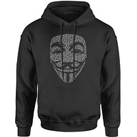 V For Vendetta Anonymous Mask Adult Hoodie Sweatshirt