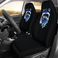 Purple Racoon Seat Covers