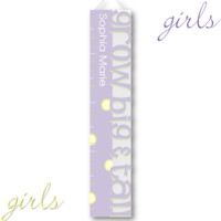 Kids Growth Charts - Personalized Lavender Big and Tall