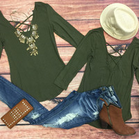 Endless Style Top: Olive