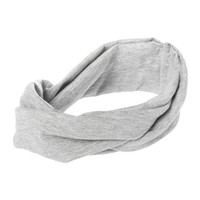 Gray Knotted Twist Headwrap