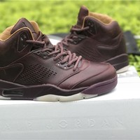 Air Jordan 5 Premium 'Bordeaux' red Basketball Shoes 40-47
