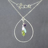 Necklace 1-07 - choice of stone - GOLD