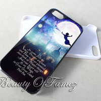 Peter Pan Quote Disney for iPhone 4, iPhone 4s, iPhone 5, iPhone 5s, iPhone 5c Samsung Galaxy S3, Samsung Galaxy S4 Case
